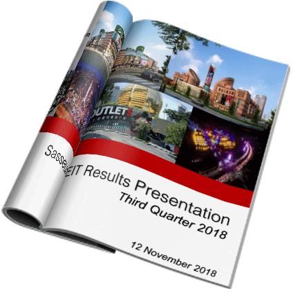 Sasseur REIT Results Presentation - Third Quarter 2018